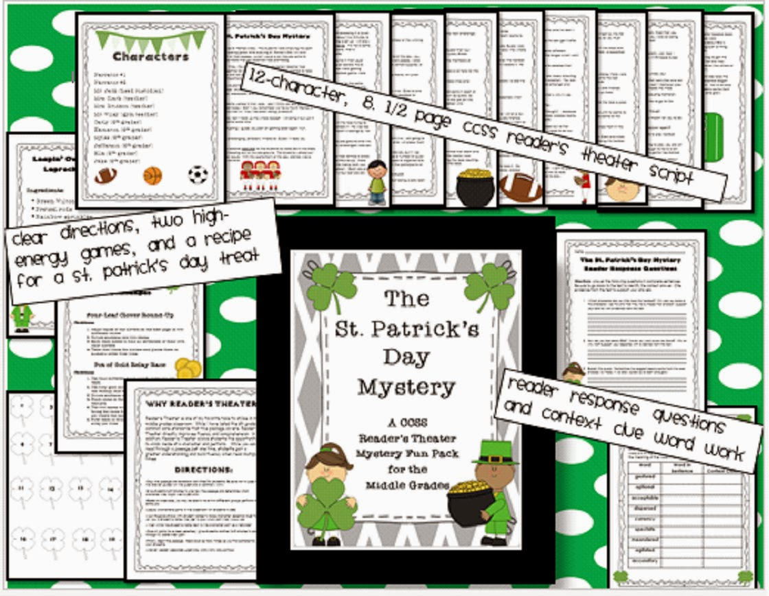 http://www.teacherspayteachers.com/Product/St-Patricks-Day-Mystery-A-CCSS-Readers-Theater-for-the-Middle-Grades-1047779