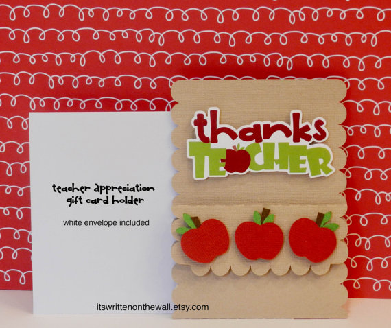 Teachers Love Gift Cards (Holder)