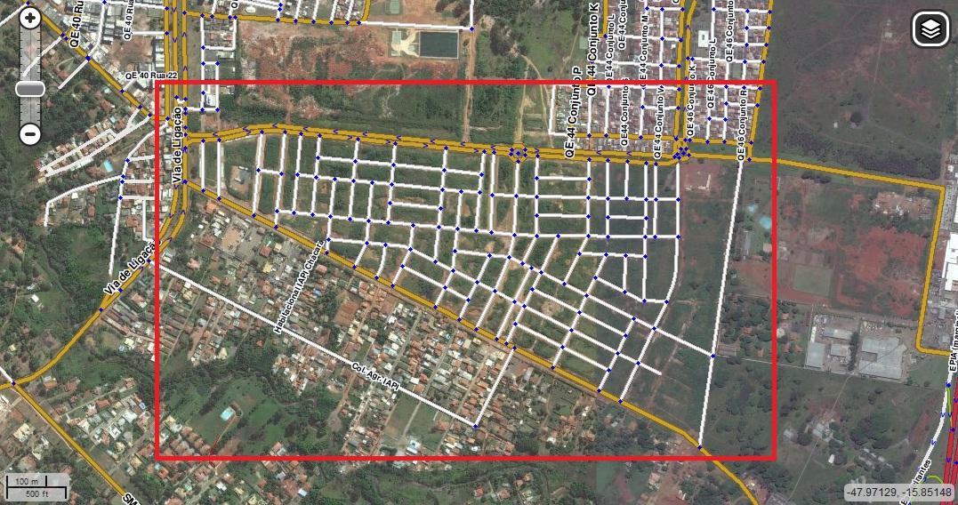 mini jardim botanico:Projeto-Waze-Brasília-DF-Brasil: Futuras quadras e/ou Condomínios.