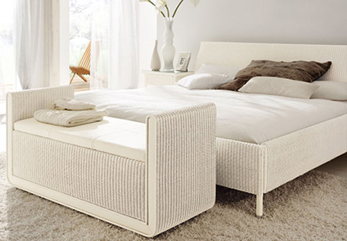 Give your room country look and feel with wicker bedroom White wicker bedroom furniture
