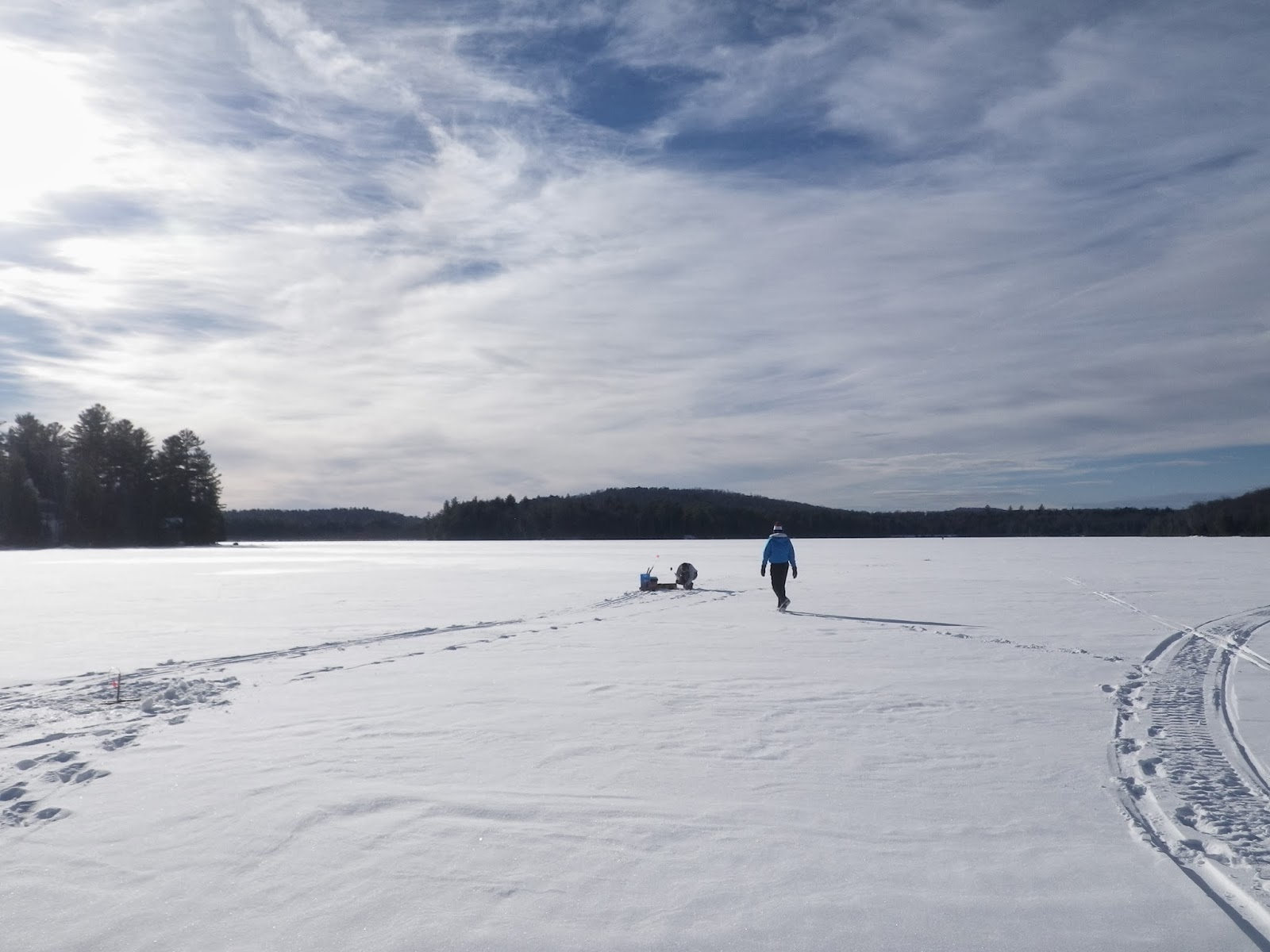 Franklin county ice fishing report adirondack angling for Ice fishing reports