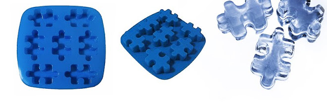 Forma de gelo puzzle em silicone - R$23,90 cada