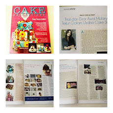 Tampil di Rubrik Success Story,majalah Cake Decorating