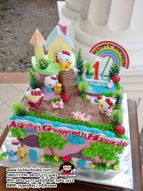 kue tart ulang tahun rumah hello kitty