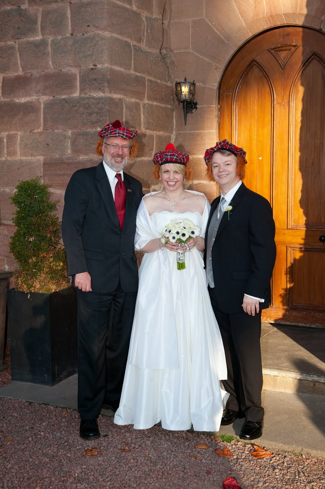 Tina and Andrew at Dalhousie Castle