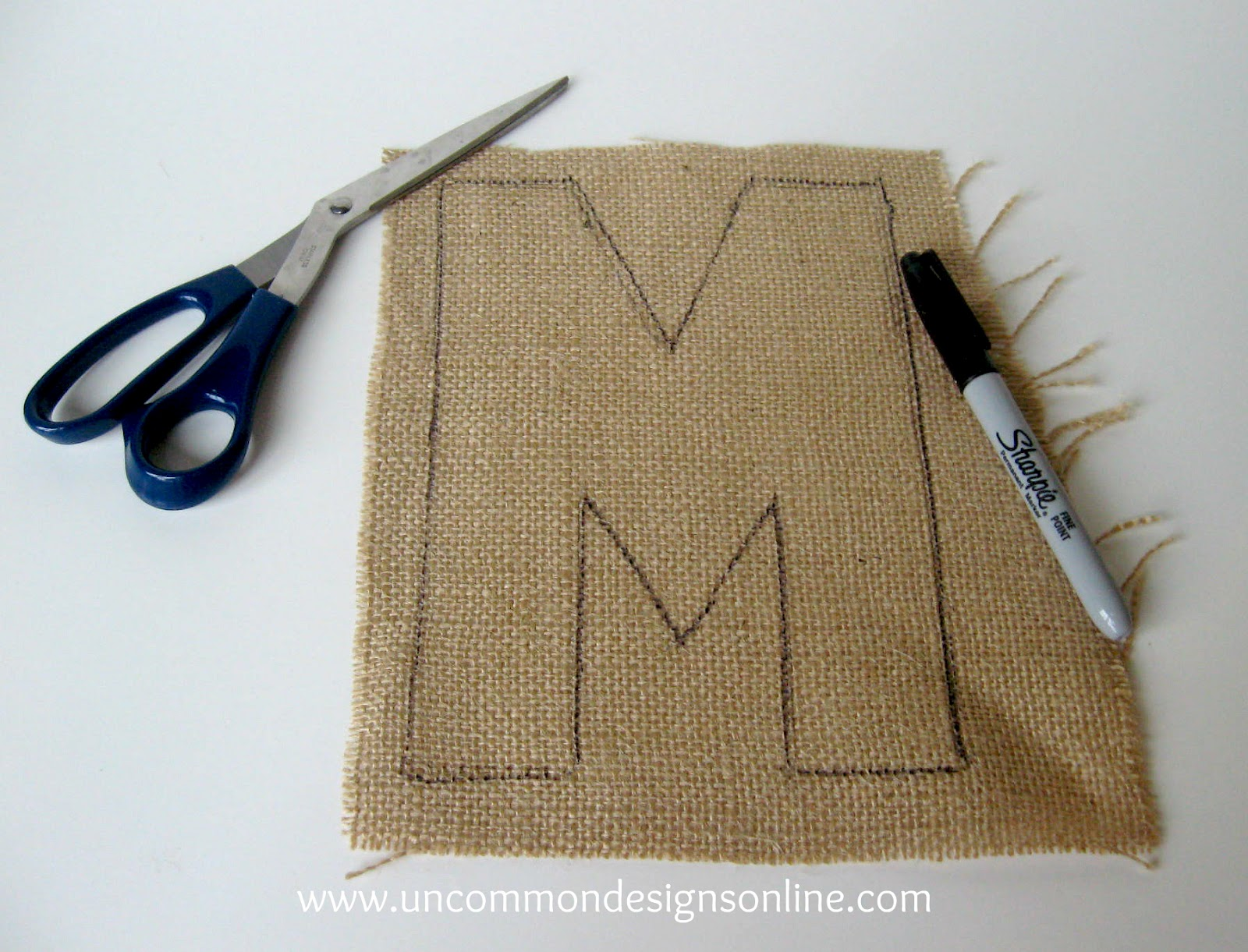 Burlap covered letters step by step instructions for Burlap designs