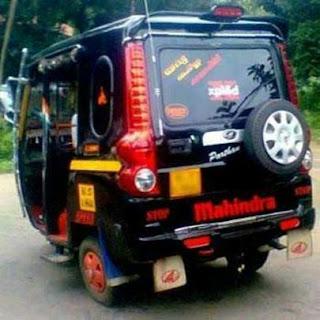 Funny Pictures of Mahindra Scorpio Auto rickshaw