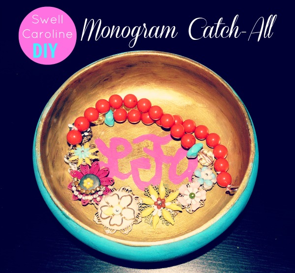 swell caroline diy monogram catch-all