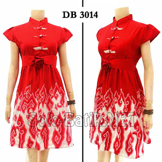 DB3014 - Model Baju Dress Batik Tulis Modern Terbaru 2013