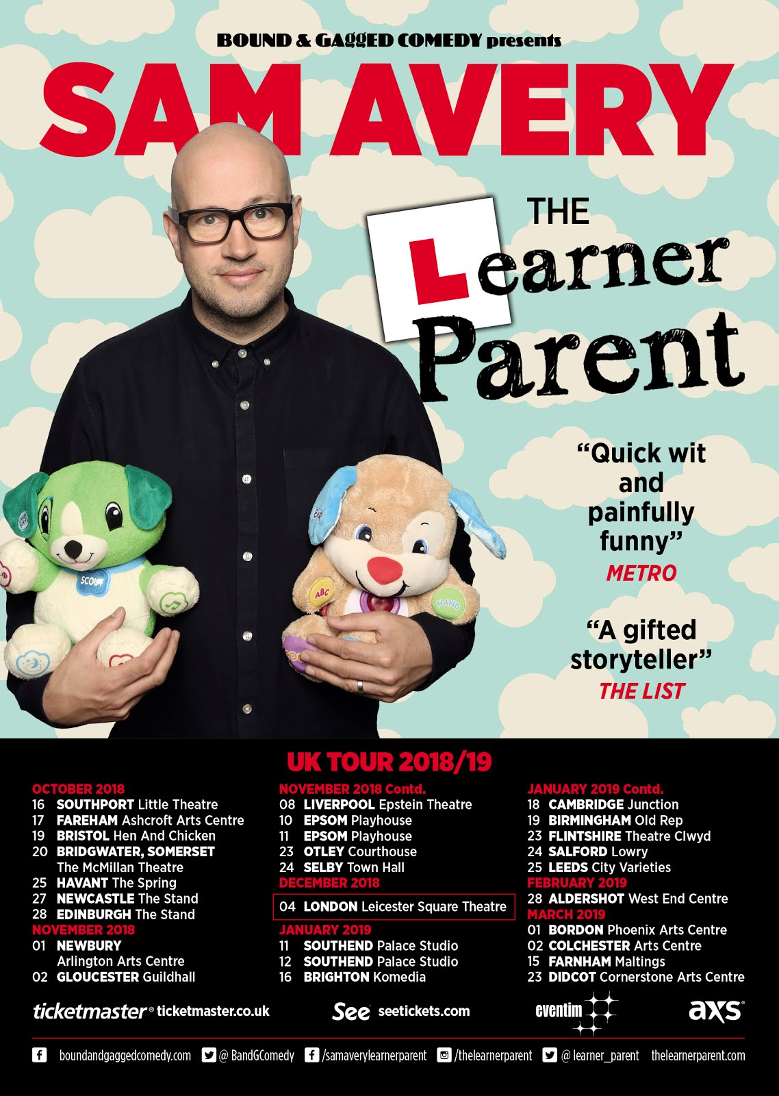 UK Tour 2018 / 19 - Click for dates