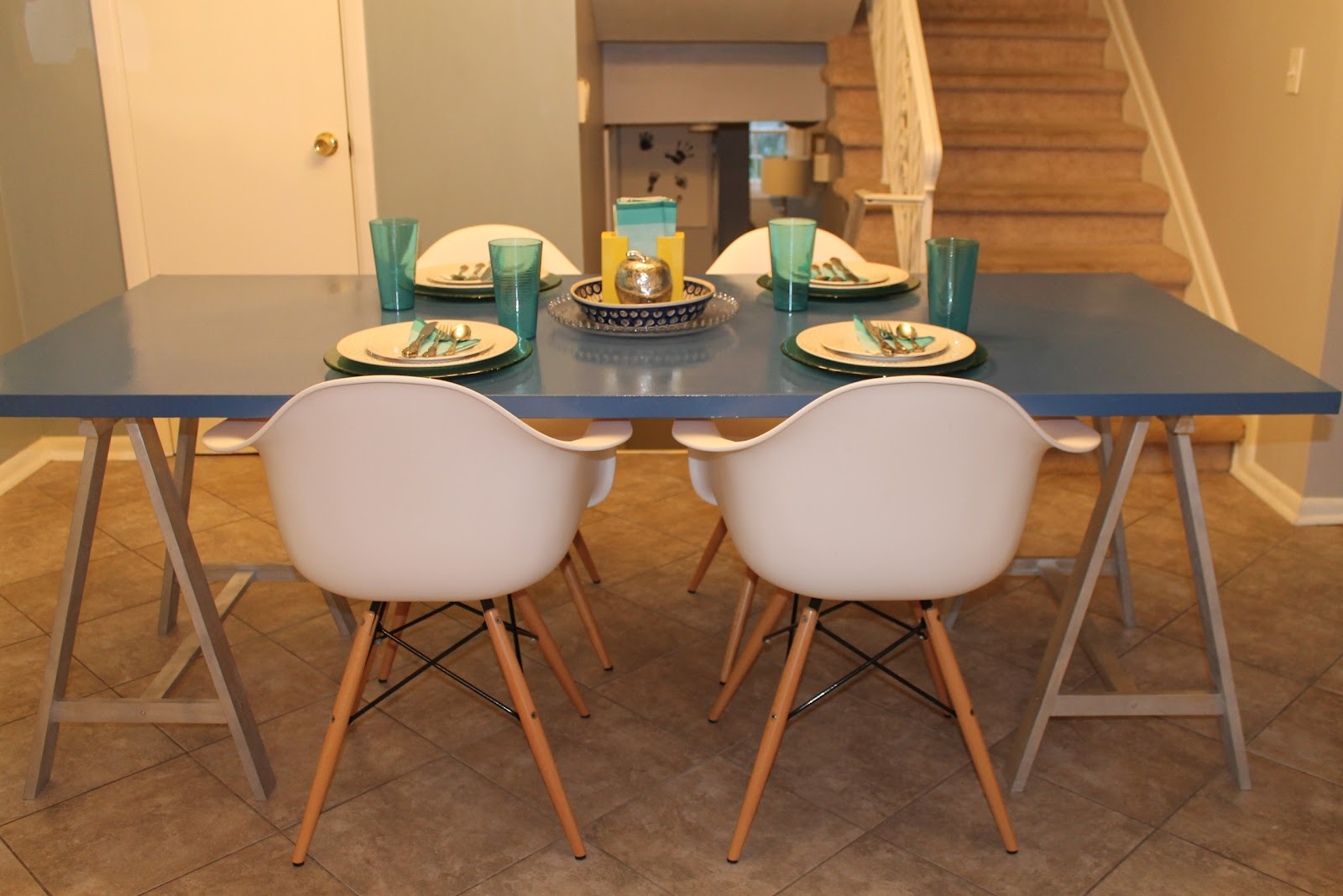 Just for me and you kitchen table gone blue for Just kitchen tables