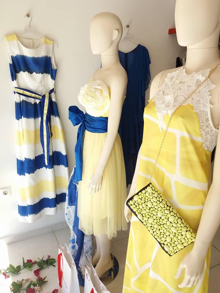 Φορεματα cocκtail σε μοντερνο κιτρινο φοντο