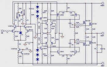 amplificateur de puissance hifi 100w avec mosfet. Black Bedroom Furniture Sets. Home Design Ideas