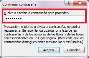 004 Proteger un archivo Excel 2010 con contraseña