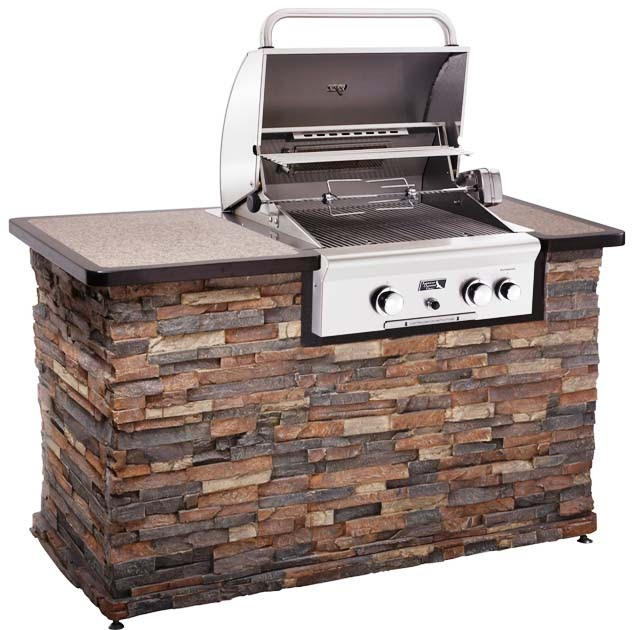 Outdoor kitchen american outdoor grill brand 24 built in for Gas grill tops outdoor kitchen