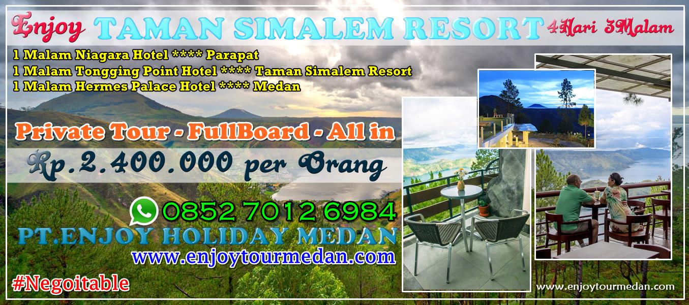 Promo Paket Wisata Danau Toba - Taman Simalem Resort 4 Hari 3 Malam - FullBoard - Private Tour