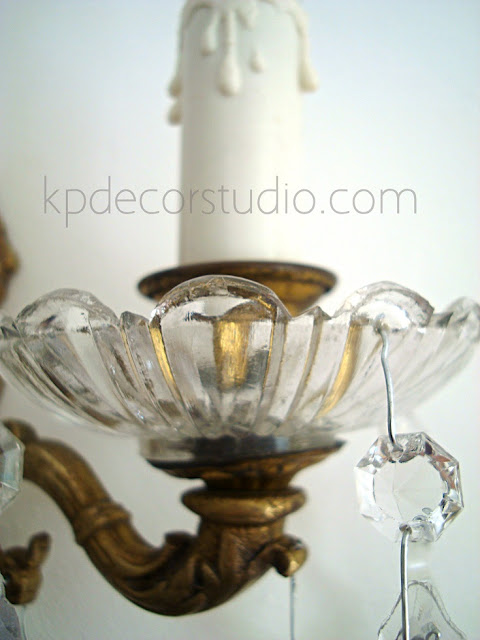 lampara vintage de pared de cristal estilo retro para decorar salon o pasillo
