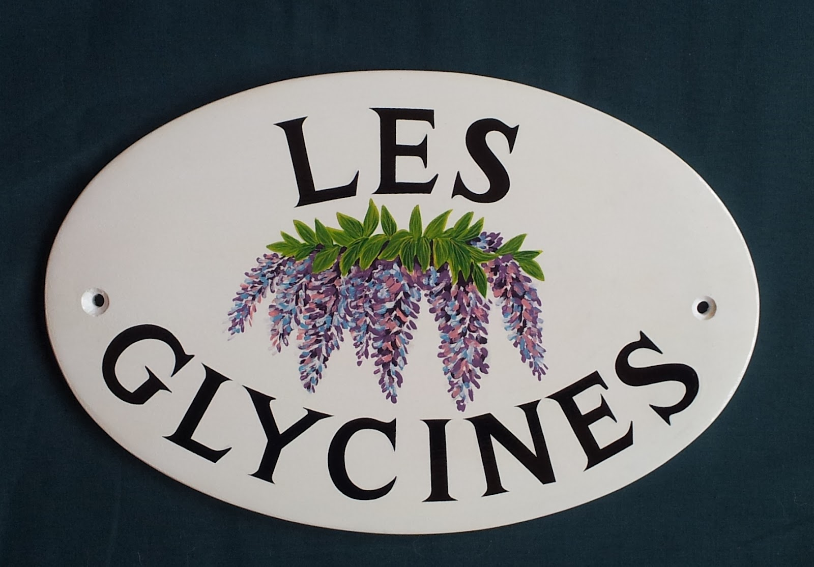 hand painted house signs by ceramic art latest. Black Bedroom Furniture Sets. Home Design Ideas