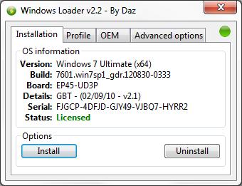 Windows Loader v2.2 By Daz