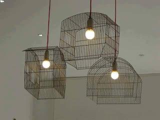 Lámpara reciclada rústica