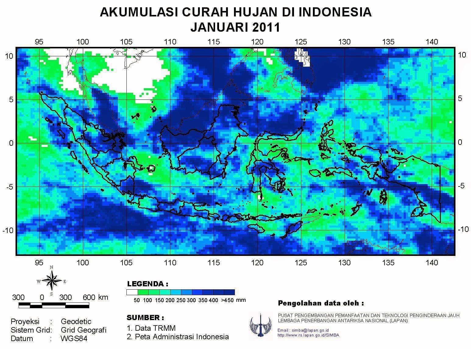 peta curah hujan indonesia