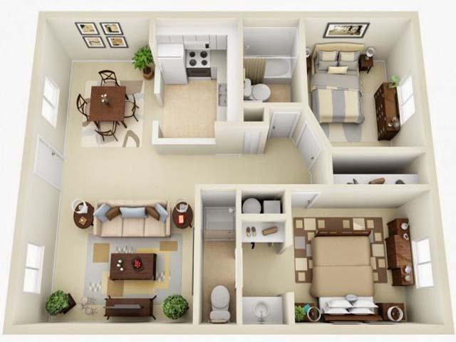 Denah new denah rumah dgn 5 kamar tidur for Design apartemen 2 kamar tidur