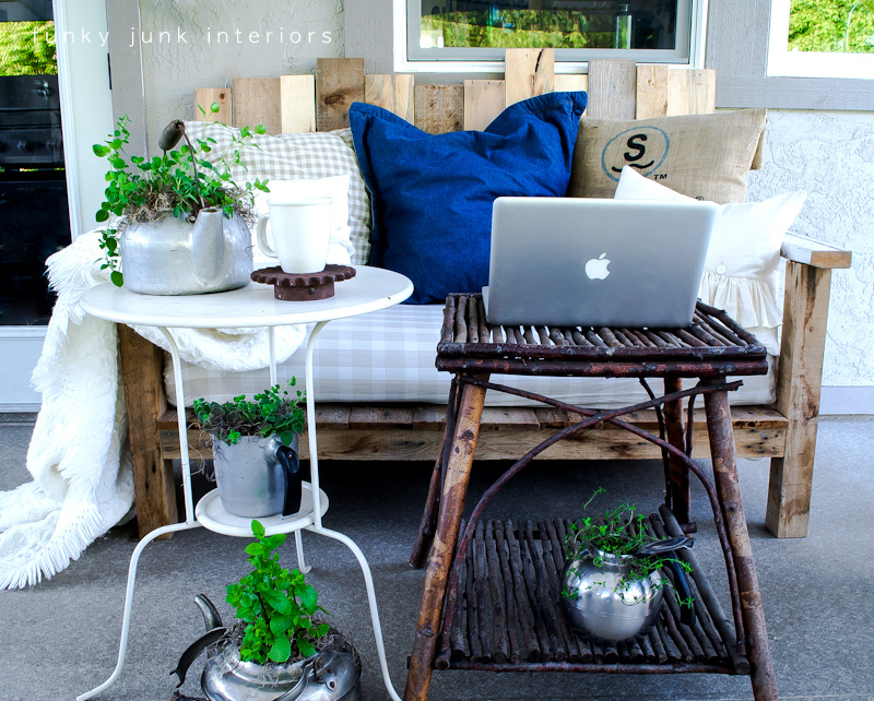 a pallet hideaway for a writer funky junk