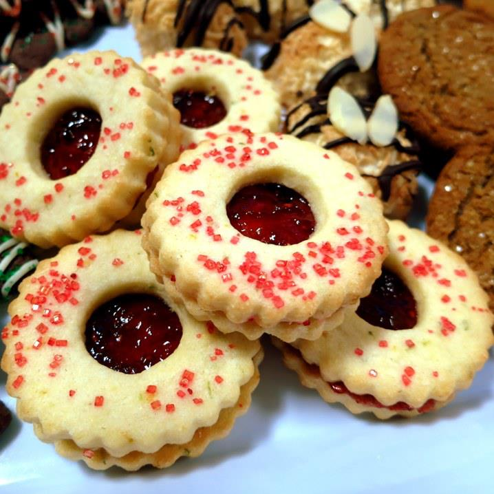 Raspberry-Cream Sandwich Cookies Recipe — Dishmaps