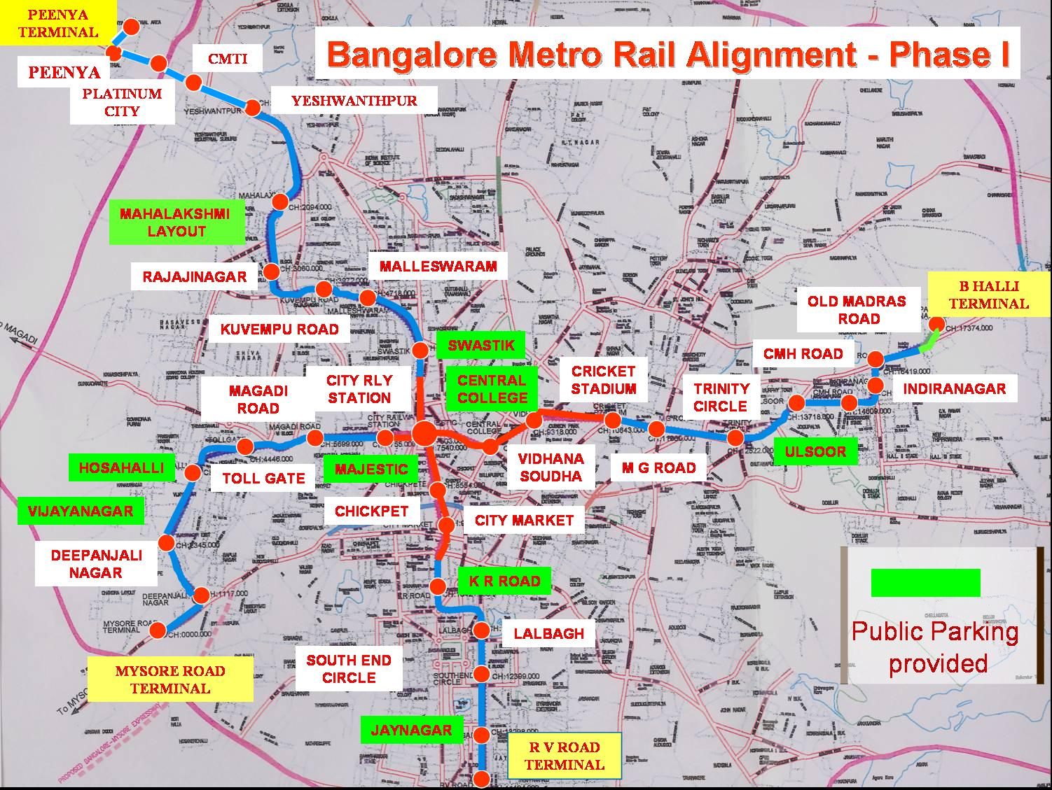 Bangalore Map North South East West - Us map with north south east west