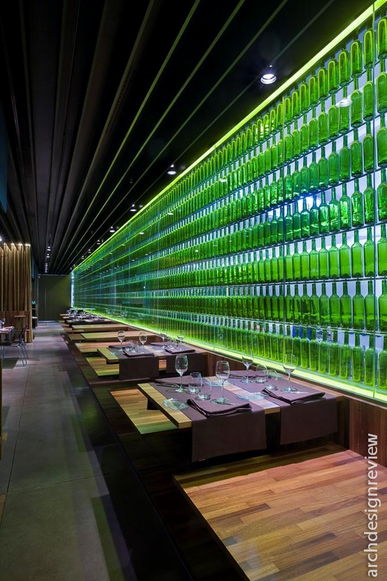 Architecture and design restaurant interiors