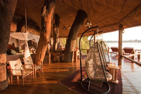 Safari Fusion blog | African Treehouses | Safari river tree lodgings at Tongabezi The Tree House, Zambia