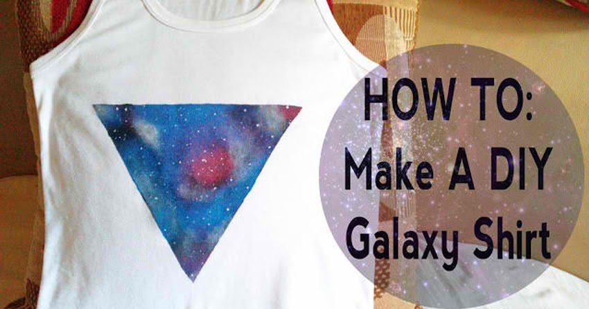How to make your own diy galaxy printed shirt ryan agustin for How to print your own shirt