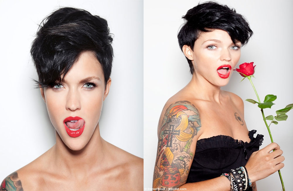 Nail Stories December - Undercut hairstyle ruby rose