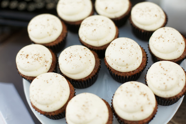 Wedding Cupcakes in Pumpkin Spice