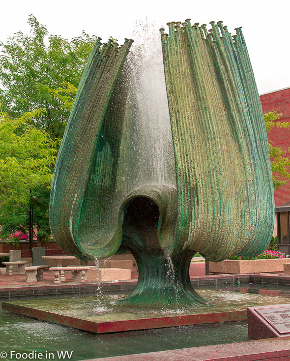 Memorial Fountain Front View Marshall University Huntington, WV