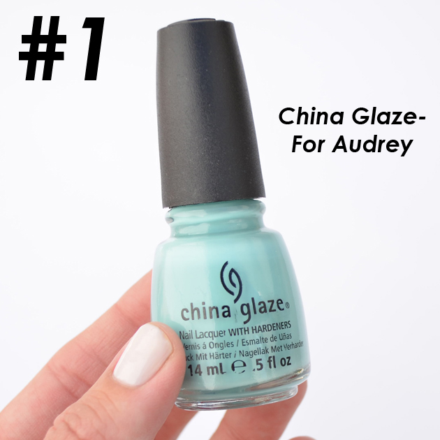 c490b9b2700 My most favorite China Glaze polish-Hand down! The most beautiful Tiffany  blue polish-named after the elegant Audrey Hepburn. There is a reason this  polish ...