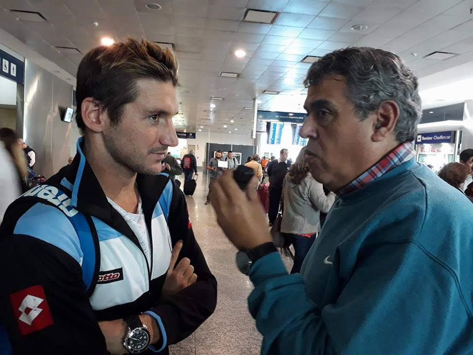 Rubén Di Liddo con Guillermo Bertola