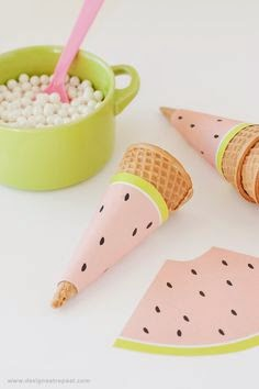 http://www.designeatrepeat.com/2014/05/watermelon-printable-ice-cream-cone-wrappers/