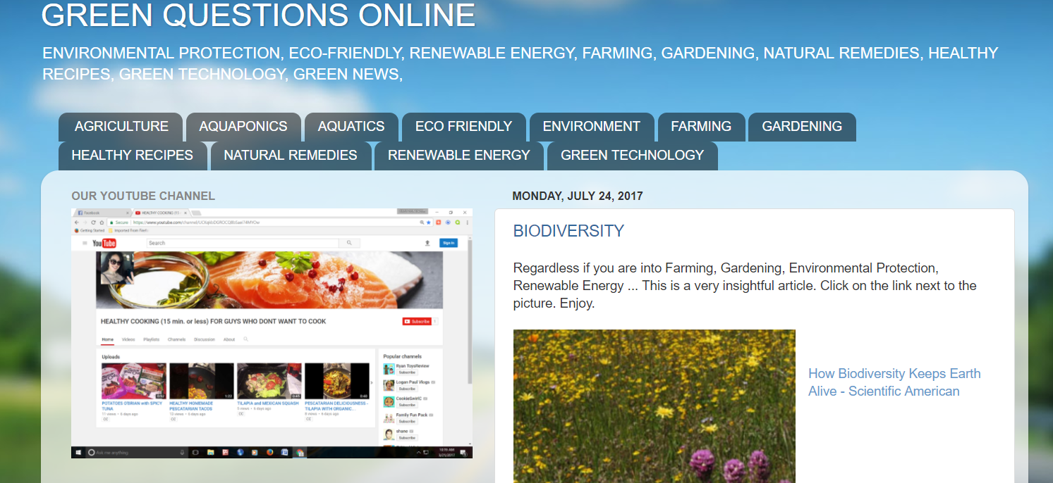 OUR GREEN and ECO SISTER SITE