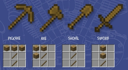 how to make a wooden shovel in minecraft ps3