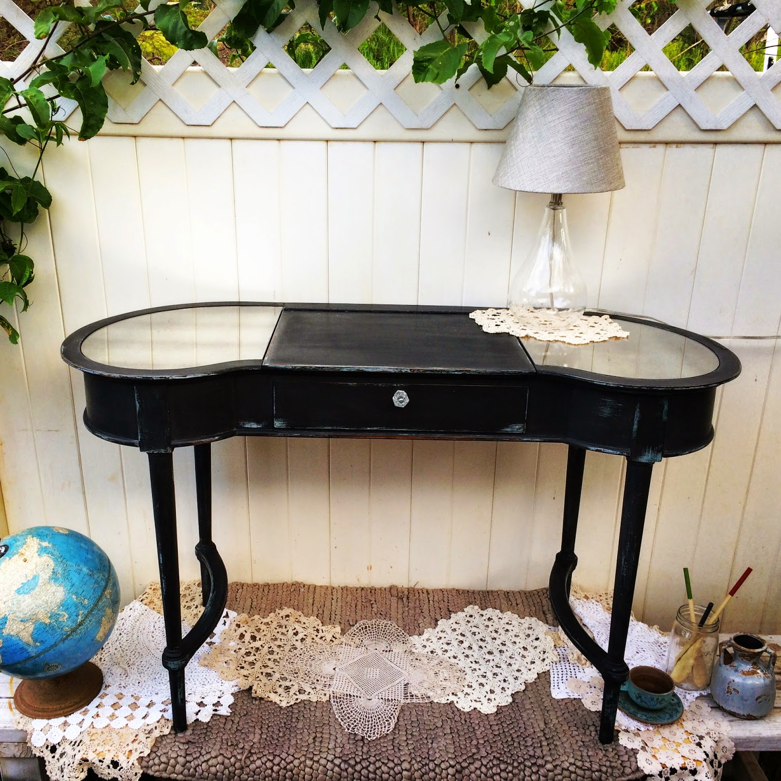 tips for staging your blog photos black chalk paint vanity
