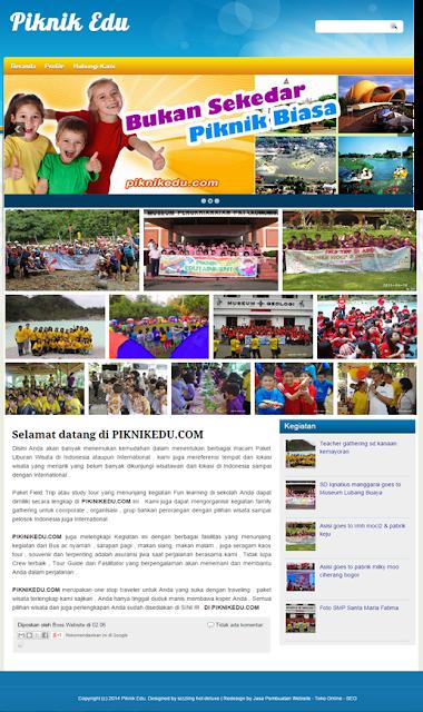 contoh website pariwisata, jasa buat web murah, jasa pembuatan website