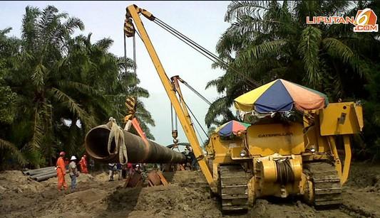 Pipa GAS sepanjang 345 km Aceh - Medan