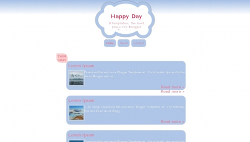 Happy Day Blogger Templates