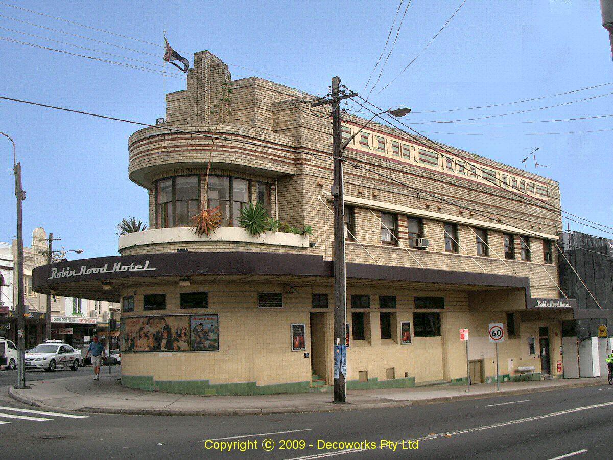 Sydney Art Deco Heritage: Robin Hood Hotel