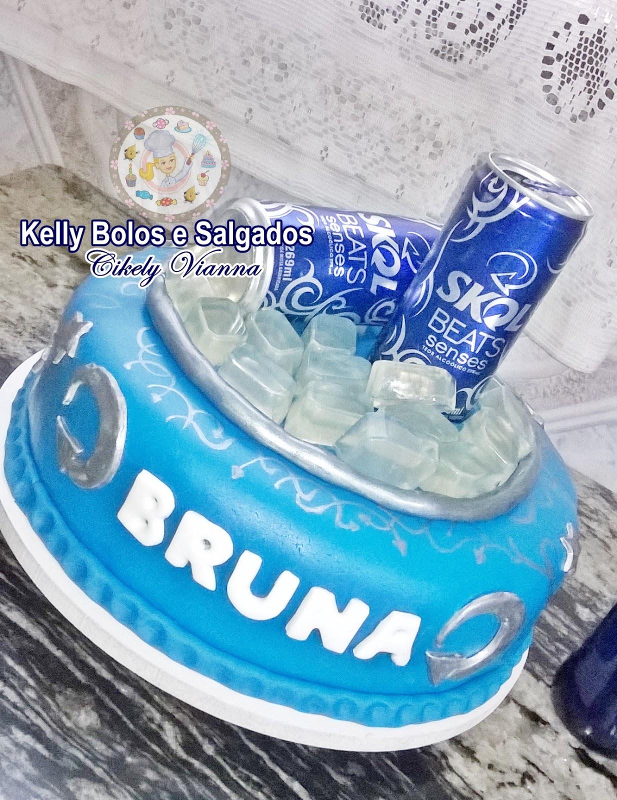 Famosos Kelly Bolos e Salgados: Bolo Cerveja Skol Beats KE68