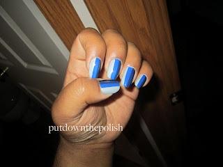 blue, gradient, blue nail polish, stripes, vertical stripes