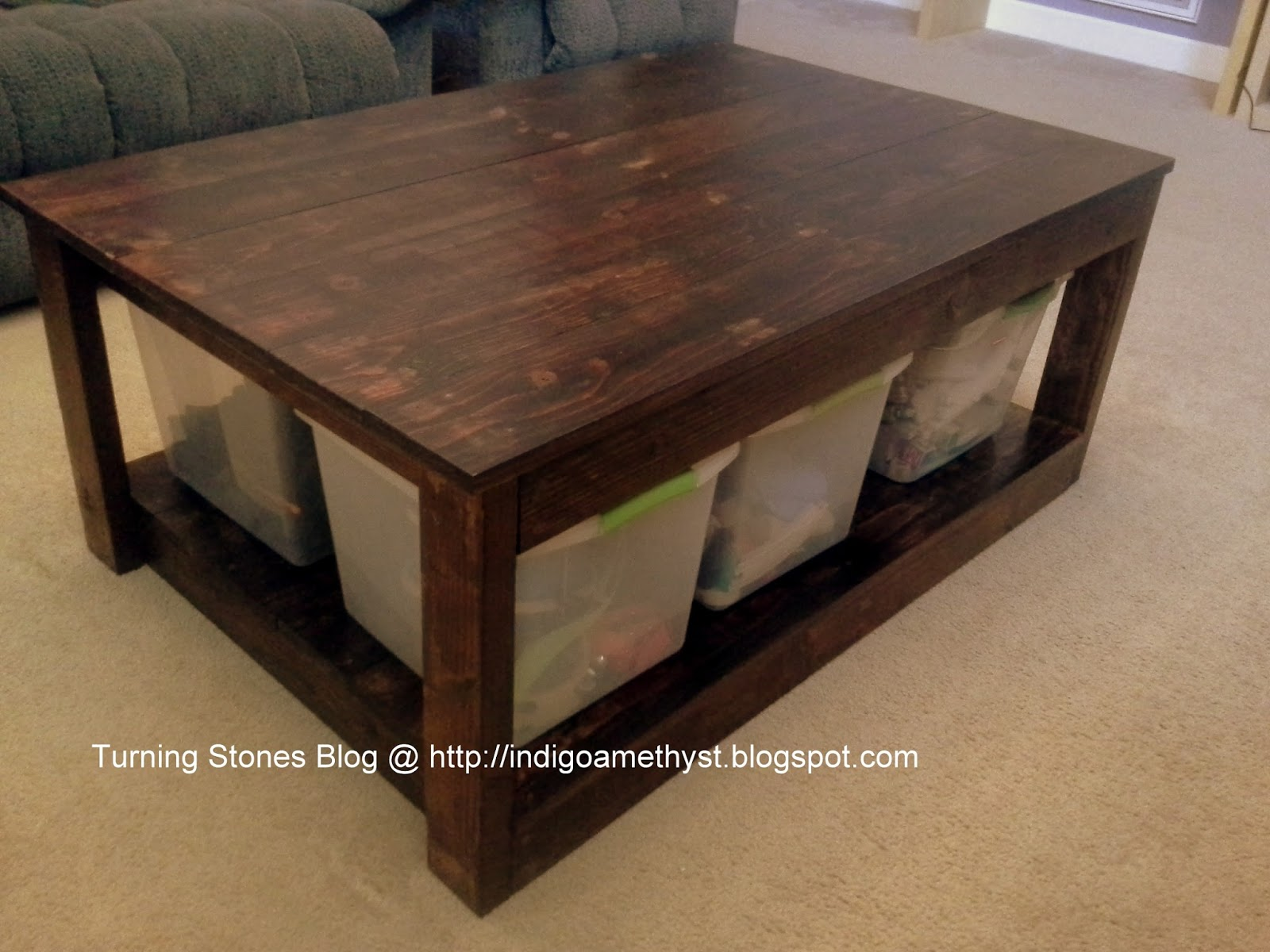 Turning Stones Blog Homemade Coffee Table