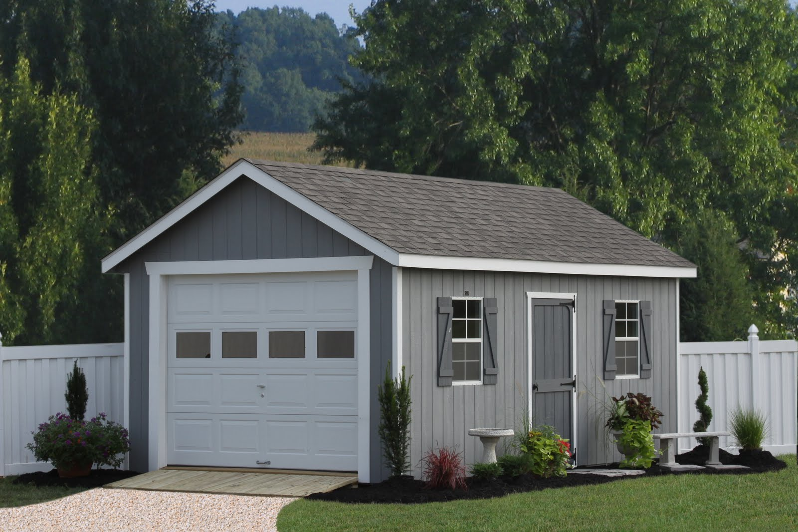 Single car garages from sheds unlimited for Single garage with carport