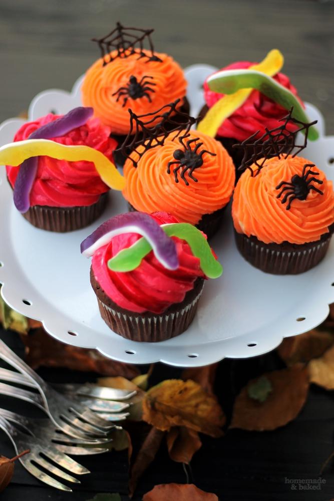 homemade and baked food blog zweierlei halloween cupcakes. Black Bedroom Furniture Sets. Home Design Ideas